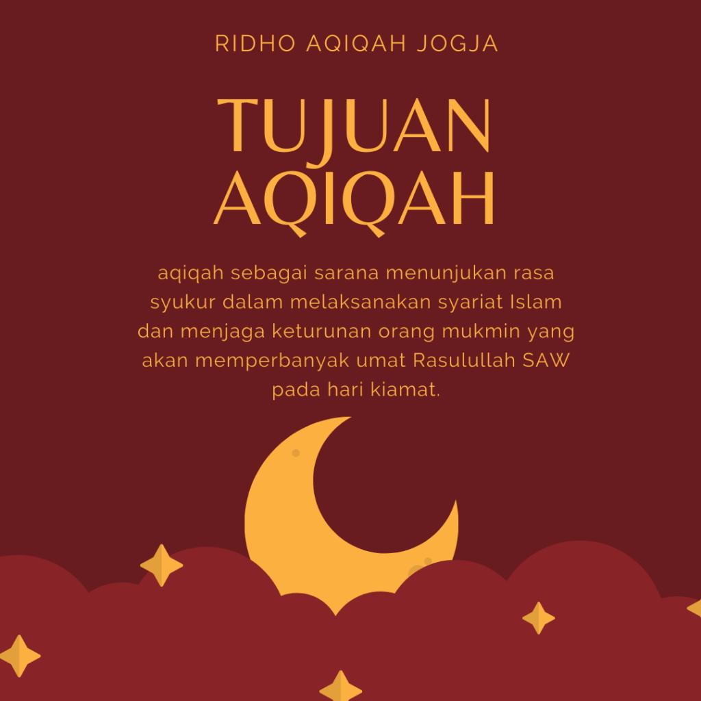 ridho aqiqah jogja, dalam kajian tujuan aqiqah dan hikmah aqiqah