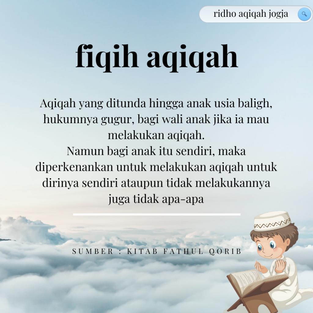 kajian aqiqah menurut imam syafi'i i imam madzhab