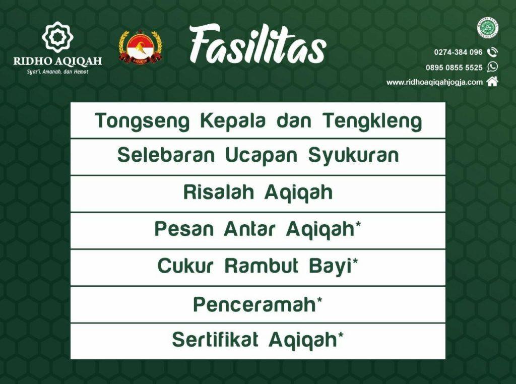fasilitas aqiqah dan bonus aqiqah alkautsar aqiqah