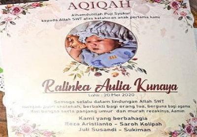 selebaran aqiqah cantik untuk paket aqiqah 2 kambing dan paket aqiqah 1 kambing